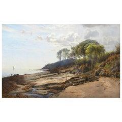 Janus La Cour, Coastal Oil Painting from Helgenæs, Denmark