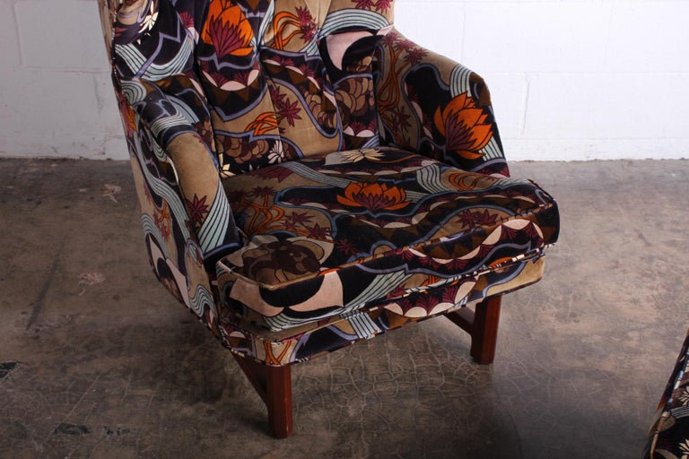 Janus Wing Chair and Ottoman by Edward Wormley for Dunbar For Sale 2