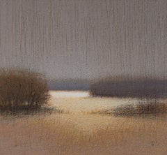 BEFORE THE STORM - Contemporary Nature Oil Pastel Painting, Warm Tones