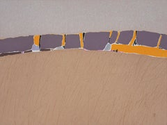 FIELDS READY fOR HARVEST  2 - Contemporary Landscape Oil Pastel  Painting