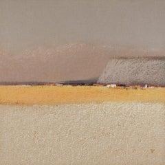 SILK ROAD - Contemporary Landscape Oil Pastel  Painting, Warm Tones