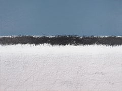 Snowy Savannah  - Contemporary Landscape  Oil Pastel  Painting