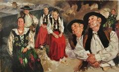 A double vision - 21 Century, Contemporary Portrait Oil Painting, Realistic