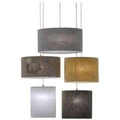 Jap Ovale Five-Light Pendant Lamp