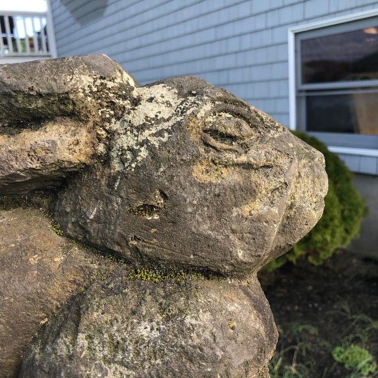 Japan Carved Garden Rabbit, Big Ears For Sale 2
