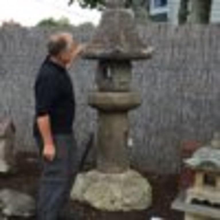 Japan Antique Granite Stone Lantern, Edo Period 19th Century For Sale 6