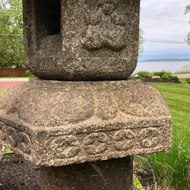 Japan Antique Granite Stone Lantern, Edo Period 19th Century For Sale 1