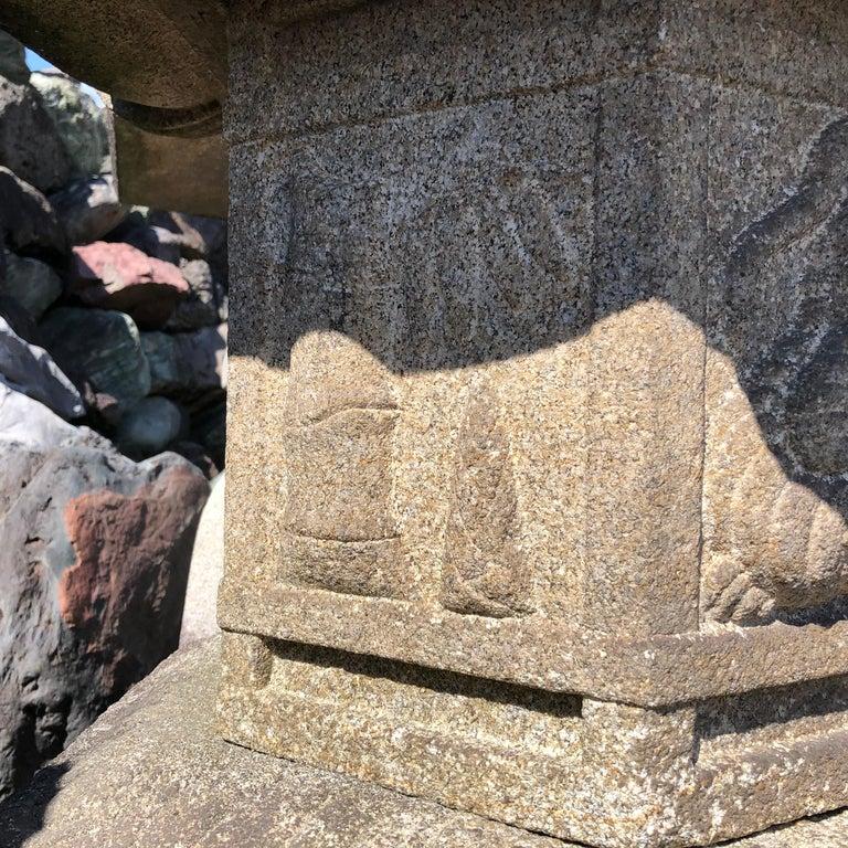 Hand-Carved Japan Antique Kasuga
