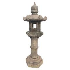 "Japan Antique Kasuga ""Zodiac"" Granite Stone Lantern, 19th Century"