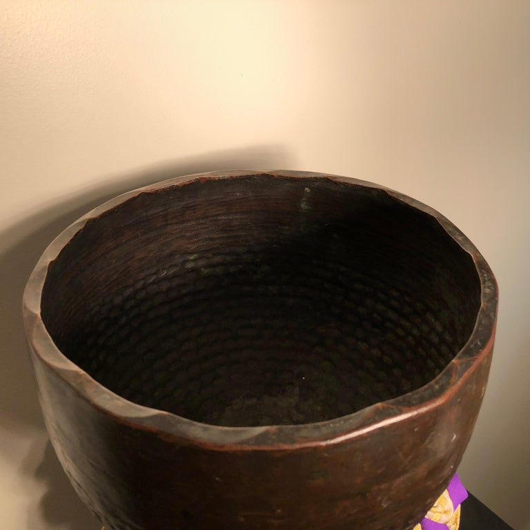 Hand-Crafted Japan Big Antique Bronze Meditation Bell Soothing Sound Guaranteed to Please You For Sale
