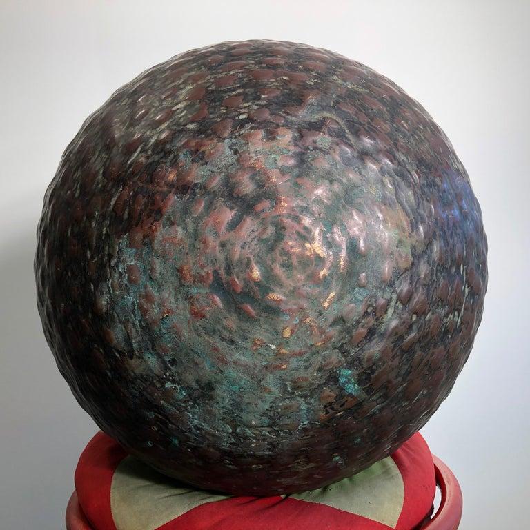 Japan Huge Bronze Antique Meditation Bell- Soothing Reverberating Sound For Sale 4