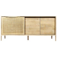 Japan Contemporary Buffet with Woven Rattan Board