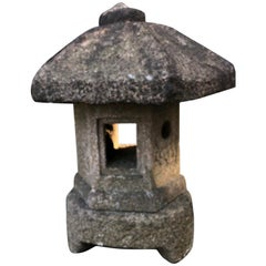 "Japan Early Antique ""Okigata"" Temple Shrine Lantern, Best in Class, 19th Century"
