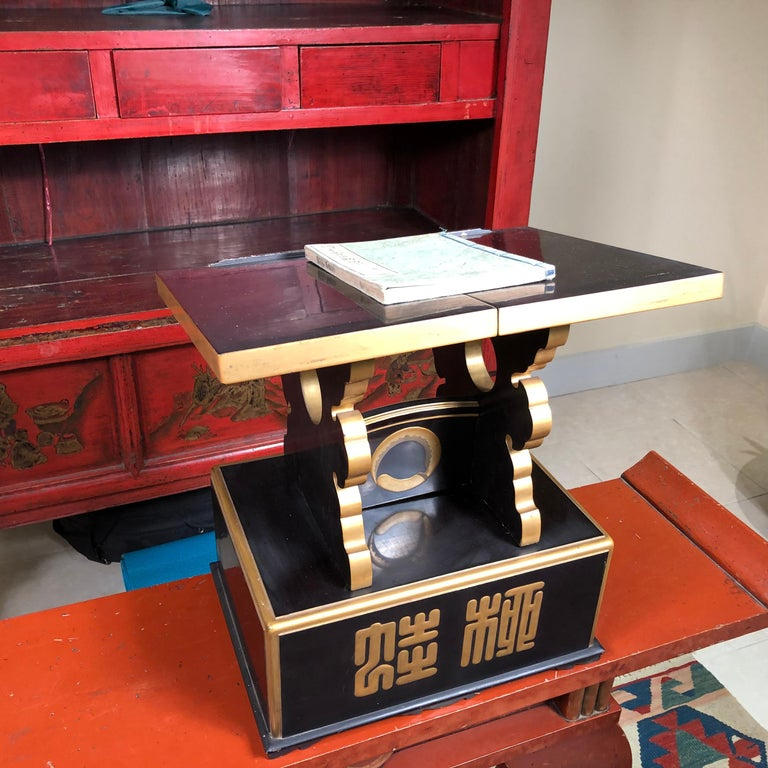 Wood Japan  Antique Lacquer Book Table  For Sale