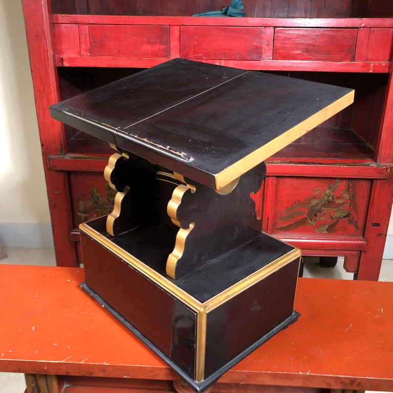19th Century Japan  Antique Lacquer Book Table  For Sale