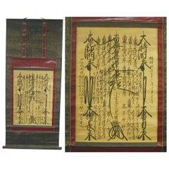 "Japan Fine 1903 ""Spirit Mandala"" Buddha Painting Scroll by Nichigi, Superb Art"