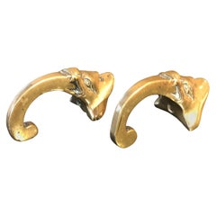 Japan Finely Cast Pair Old and Sturdy Wall Hooks