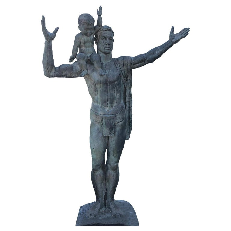 """Japan Important 1961 Life-Size Bronze """"Coming Generation"""", Sculptor Koga Tadao For Sale"""
