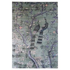 Japan Influence Handwoven Viscose Rug Ehon by Deanna Comellini 160x230 cm