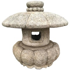 "Japan Lovely Vintage Stone ""Pumpkin"" Lantern Hand-Carved Classic"
