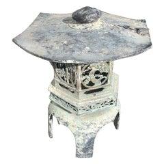 Japan Old Bronze Lantern with Exquisite Details