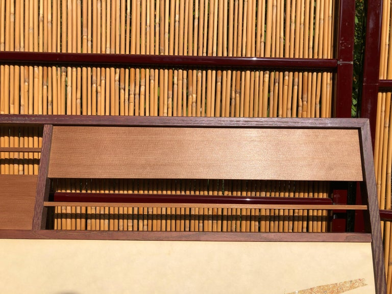 Japan Small Gold Folding Two-Panel Tea Screen