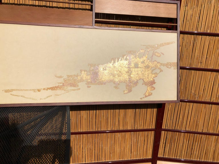 Japan Small Gold Folding Two-Panel Tea Screen