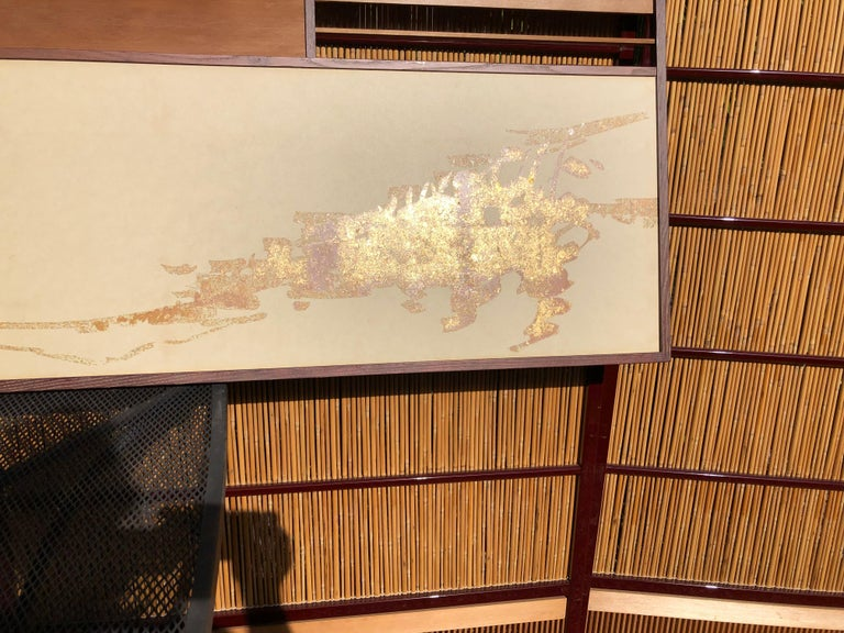 Paper Japan Small Gold Folding Two-Panel Tea Screen