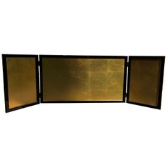 Japan Small Gold Leaf Folding Three-Panel Tea Screen Ideal size For Special Wall