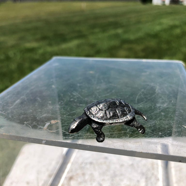 Hand-Crafted Japan Special Vintage Sterling Silver Turtle