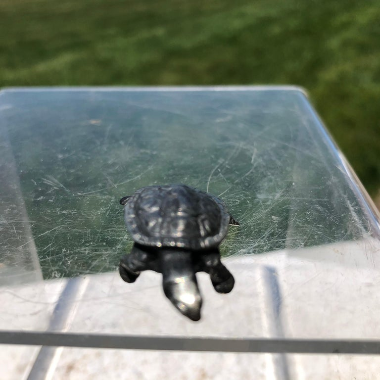 20th Century Japan Special Vintage Sterling Silver Turtle