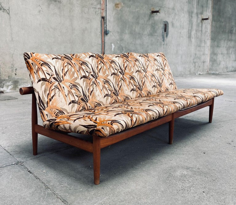 Danish Japan Three-Seat Sofa Designed by Finn Juhl in 1957 Made by France & Son. For Sale