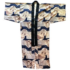 Japan USA 1930s Los Angeles Olympic Commemorative Kimono, Unique & Fine