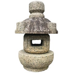 "Japan Vintage Stone Lantern ""Tamate"" Hand Carved Classic"