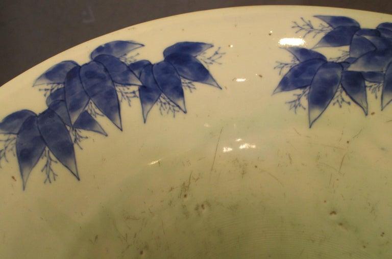 Japanese 19th Century Fukagawa Koransha Blue White Porcelain Vase, circa 1890 In Good Condition For Sale In Vancouver, CA