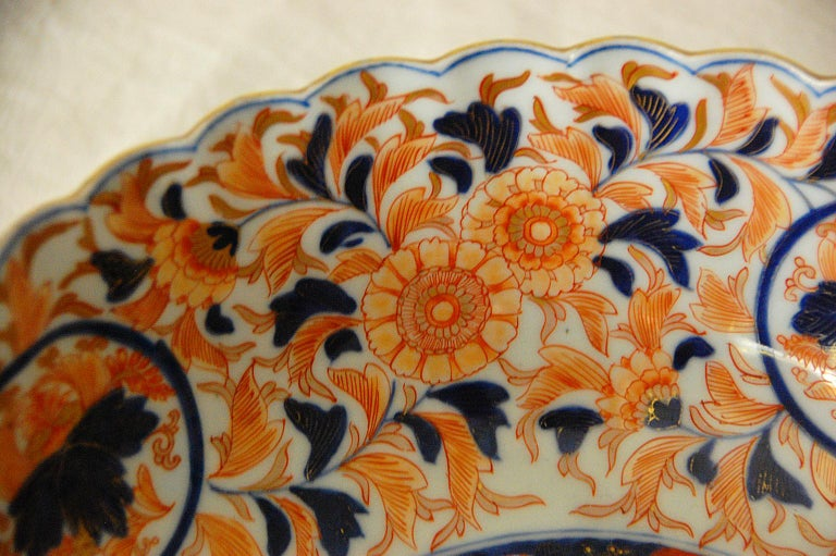 Japanese 19th Century Imari Fluted Bowl by Koransha In Good Condition For Sale In Wells, ME