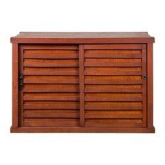 Japanese 19th Century Meiji Period Keyaki Wood Tansu Cabinet with Sliding Doors