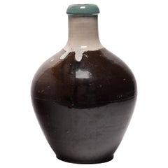 Japanese Agano-Style Sake Bottle, circa 1900