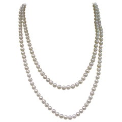 Japanese Akoya Pearl Necklace,  48 Inches