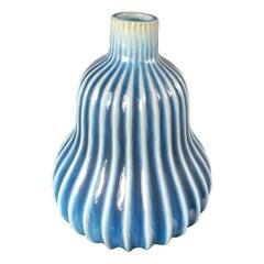 Japanese Large Antique Blue and White Gourd Vase