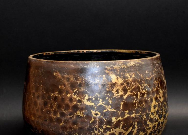 Japanese Antique Bronze Singing Bowl Hand-Hammered Large 6