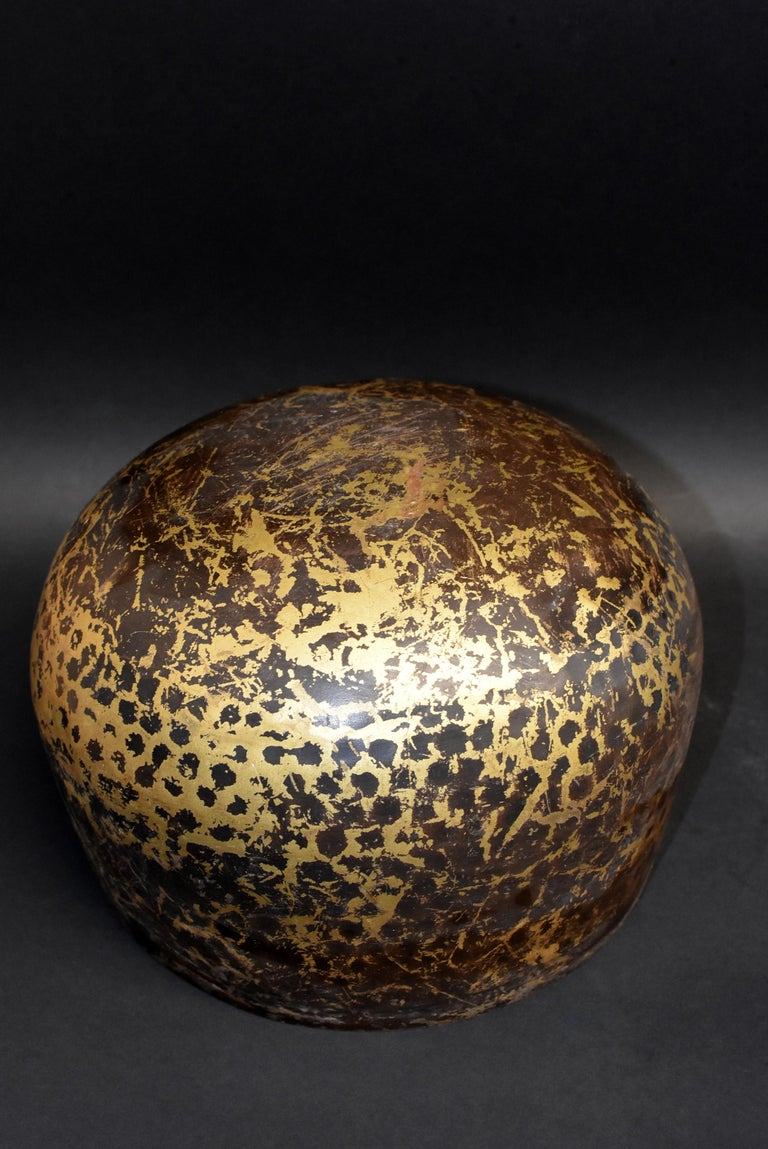 Japanese Antique Bronze Singing Bowl Hand-Hammered Large 8