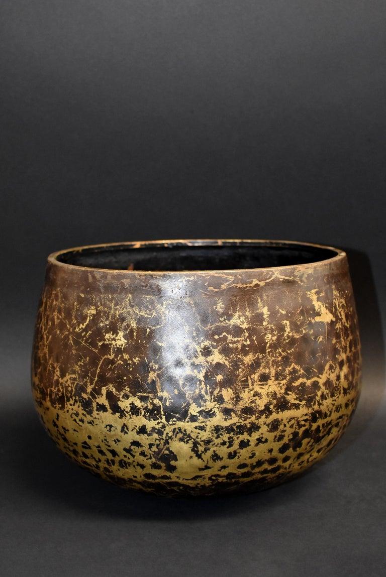 19th Century Japanese Antique Bronze Singing Bowl Hand-Hammered Large