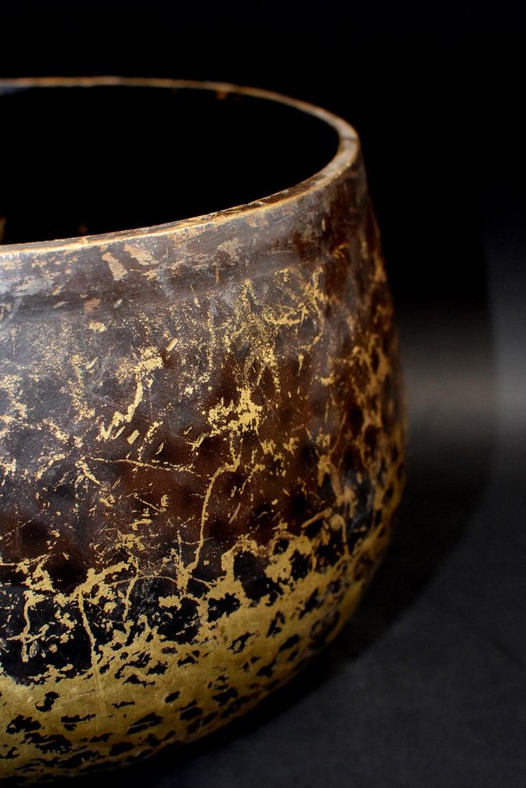 Japanese Antique Bronze Singing Bowl Hand-Hammered Large 4