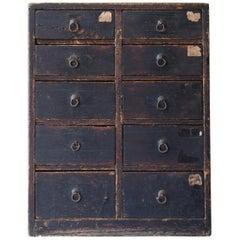 Japanese Antique Drawer 1860s-1900s/Storage Cabinet Chest Shelf Wabisabi Art