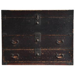 Japanese Antique Drawer / Tansu Chest / Coffee Table/Wooden Box/Exhibition Stand