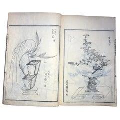 Japanese Antique Flower Arranging Ikebana Book 1812