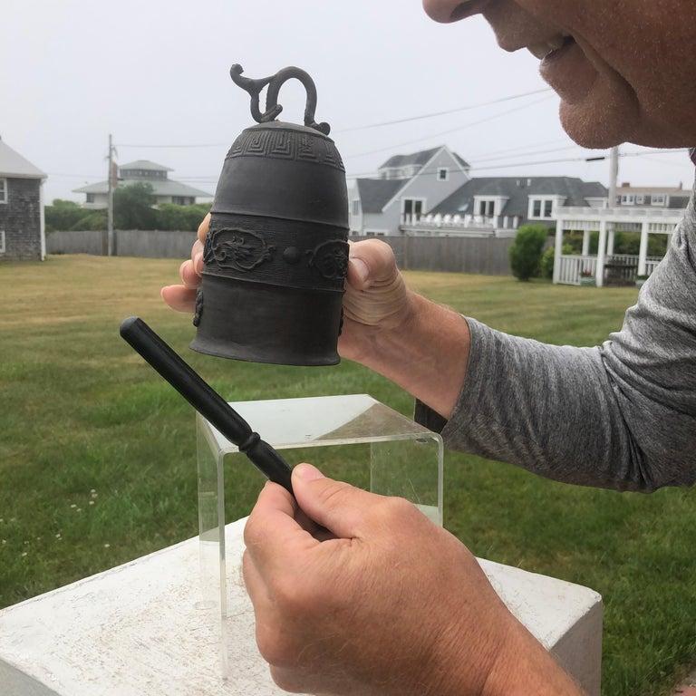 Meiji Japanese Antique Hand Cast Bronze Temple Bell