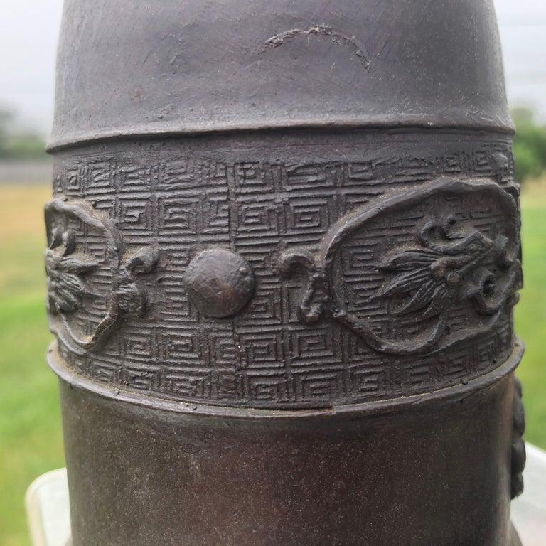 Japanese Antique Hand Cast Bronze Temple Bell