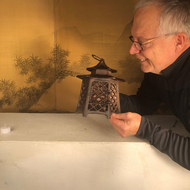 Pair available  From our recent Japanese Acquisitions in original condition  Seldom Seen style  Japan, an attractive and sturdy antique lantern, with a